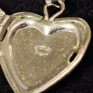 Vintage Jewelry - Vintage Stamped Sterling Engraved Floral Locket